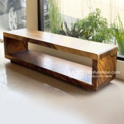 cabinet tv hollow kayu trembesi
