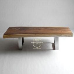 meja tamu kayu trembesi solid