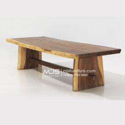 meja meeting kayu trembesi panjang 3 meter