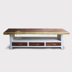 cabinet meja tv kayu solid trembesi minimalis modern