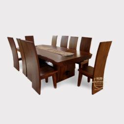 meja meeting kayu trembesi besar