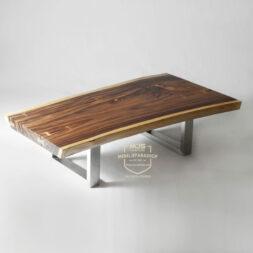 coffee table kayu solid trembesi