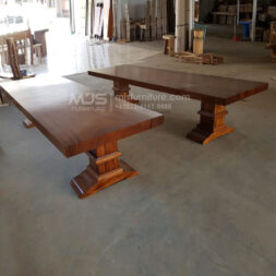 meja trembesi kaki balok pilar