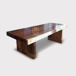meja kayu solid trembesi minimalis modern