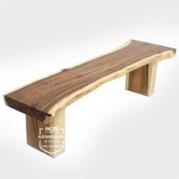 bench bangku taman kayu solid trembesi