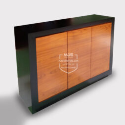 cabinet storage minimalis kayu jati modern