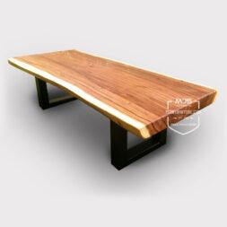 coffee table meja tamu trembesi minimalis natural