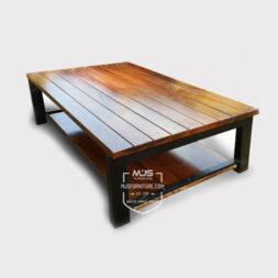 coffee table industrial kaki besi