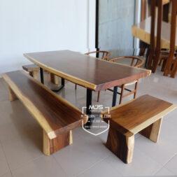 meja trembesi kayu solid utuh jepara murah