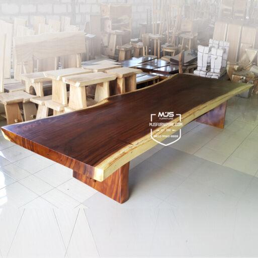 meja trembesi besar jumbo solid