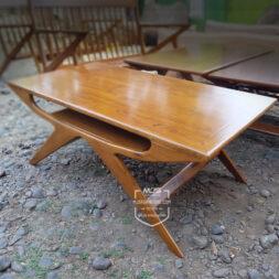 meja tamu cafe unik kayu jati minimalis
