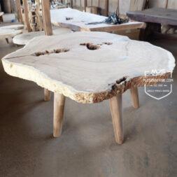 meja kayu antik erosi trembesi