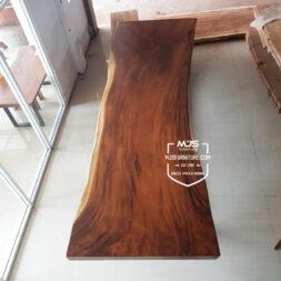 meja rapat meeting kayu solid trembesi panjang 5 meter