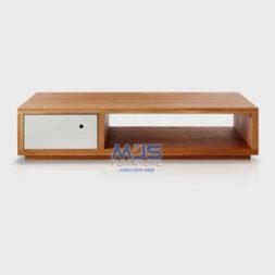 meja tv minimalis kayu jati simple