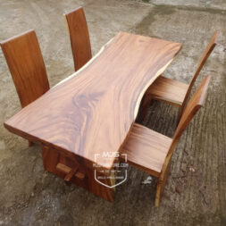 meja kayu trembesi natural 2 meter