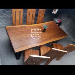 set meja makan trembesi minimalis