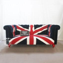 sofa bendera inggris 2 dudukan