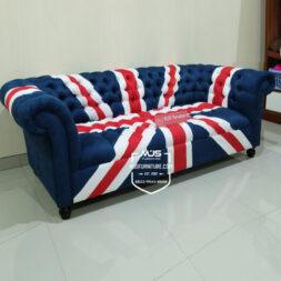 sofa chesterfield union jack bendera inggirs