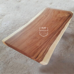 Top table papan kayu solid trembesi suar