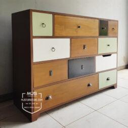 cabinet laci buffet vintage warna warni
