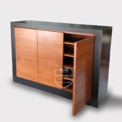 cabinet storage minimalis jati jepara