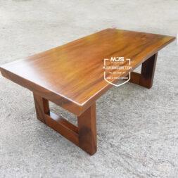 meja tamu kecil kayu solid trembesi coffee table