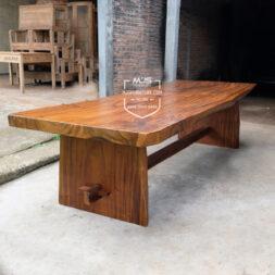 meja kayu trembesi panjang 3 meter