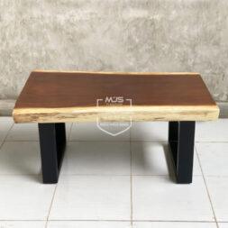 meja tamu kayu solid trembesi