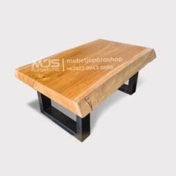 coffee table meja pendek kayu jati utuh solid tanpa sambungan