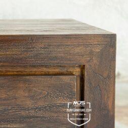 detail nakas minimalis rustik antik