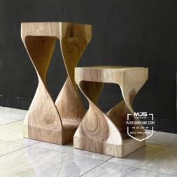 Kursi meja stool kayu trembesi suar wood