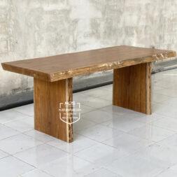meja kayu jati solid utuh sambung 1