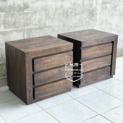 nakas minimalis rustic antik jepara blackwashed