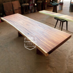 Papan kayu solid trembesi natural alami