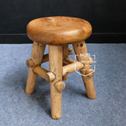 kursi stool jati antik