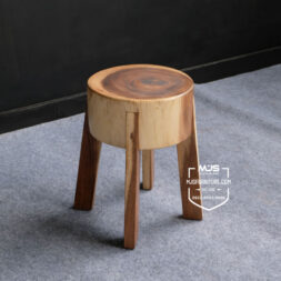 kursi stool trembesi solid