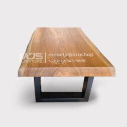 coffee table jati solid utuh tanpa sambungan