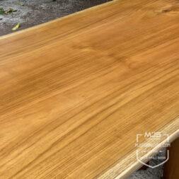 meja kayu jati utuh sambung 1