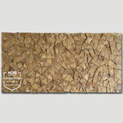 mozaik abstract teak wood wall decor antik panel dinding