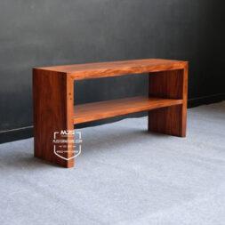 meja konsul tv minimalis kayu trembesi kotak