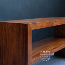 meja kayu solid trembesi konsul kotak