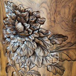 stool ukiran kayu jati utuh solid
