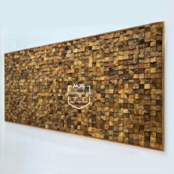 aesthetic rustic teak wood wall decor