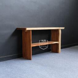 meja konsul kayu solid trembesi utuh alami natural